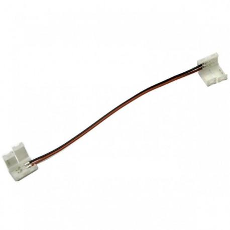 Connecteur pour ruban LED 12V REF 3528 deux têtes avec fil