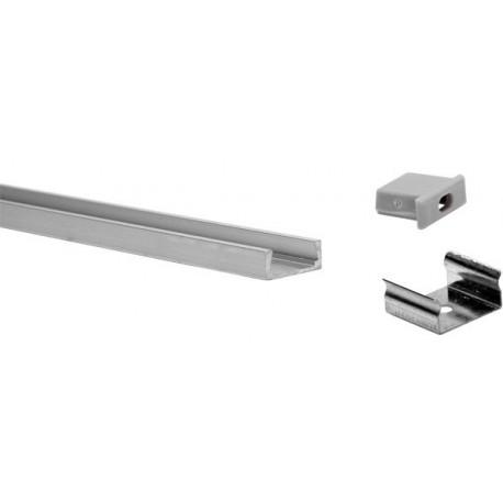 Profil pour ruban LED PVC 2Mt x 15mm x 6mm