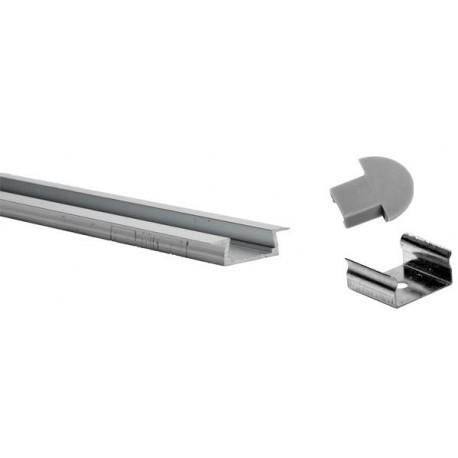 Profil pour ruban LED PVC Extérieur:1Mt x 22mm x 6mm