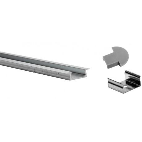 Profil pour ruban LED PVC Extérieur:2Mt x 22mm x 6mm