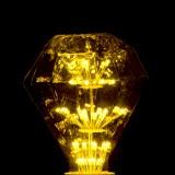 Ampoule déco Diamant jaune E27 1.8W