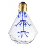Ampoule déco diamant Bleu E27 1.8W