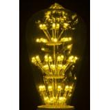 Ampoule déco ST64 jaune E27 1.8W