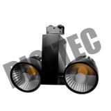 Projecteur LED sur rail 2x35W 4000Lm 3000K